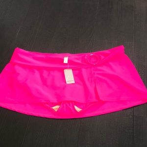 Lane Bryant Swim Skirt Bikini Bottom 16 NWT Pink
